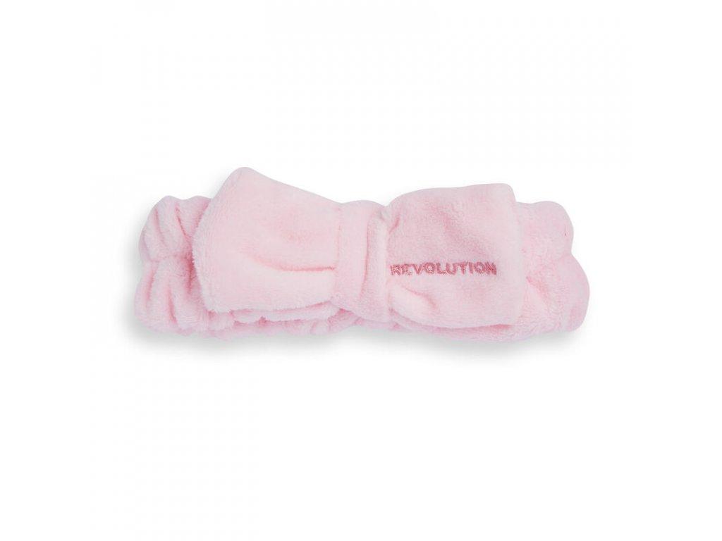 Makeup Revolution Skincare - kosmetická čelenka Pretty Pink Bow
