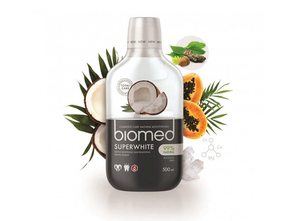 SPLAT - BIOMED Superwhite ústní voda  extraktem z kokosu pro bezpečné bělení, 500 ml