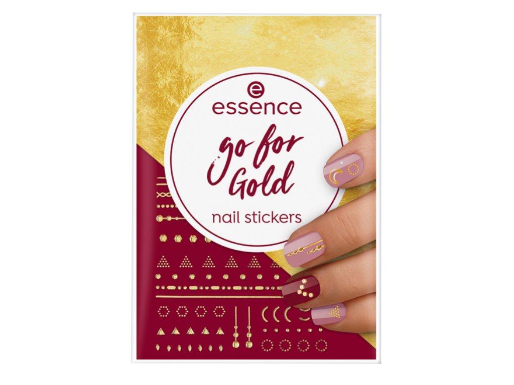 ESSENCE - Nálepky na nehty nail art GO FOR GOLD