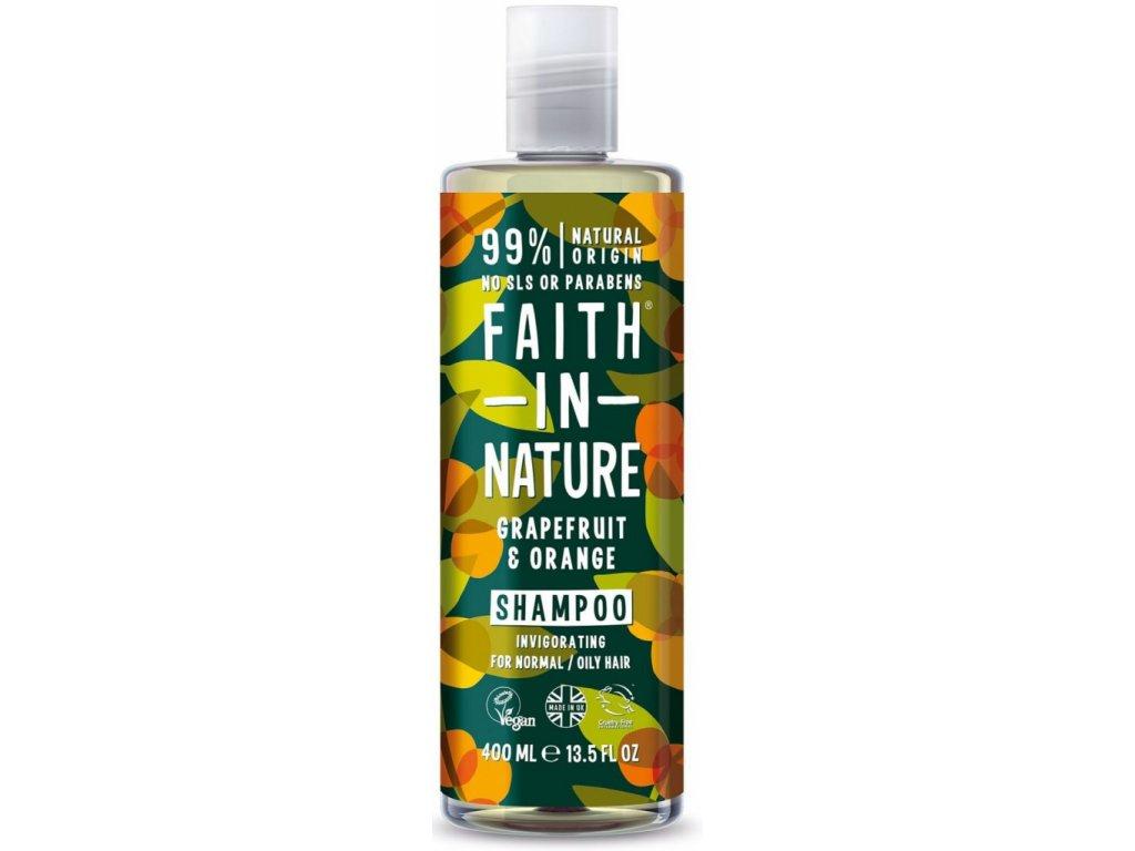 Faith In Nature - Šampon s BIO pomerančem a grapefruitem 400 ml