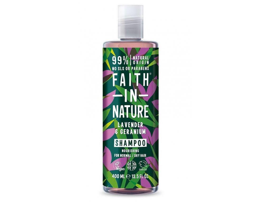 Faith In Nature - Šampon s levandulí a pelargonií 400 ml
