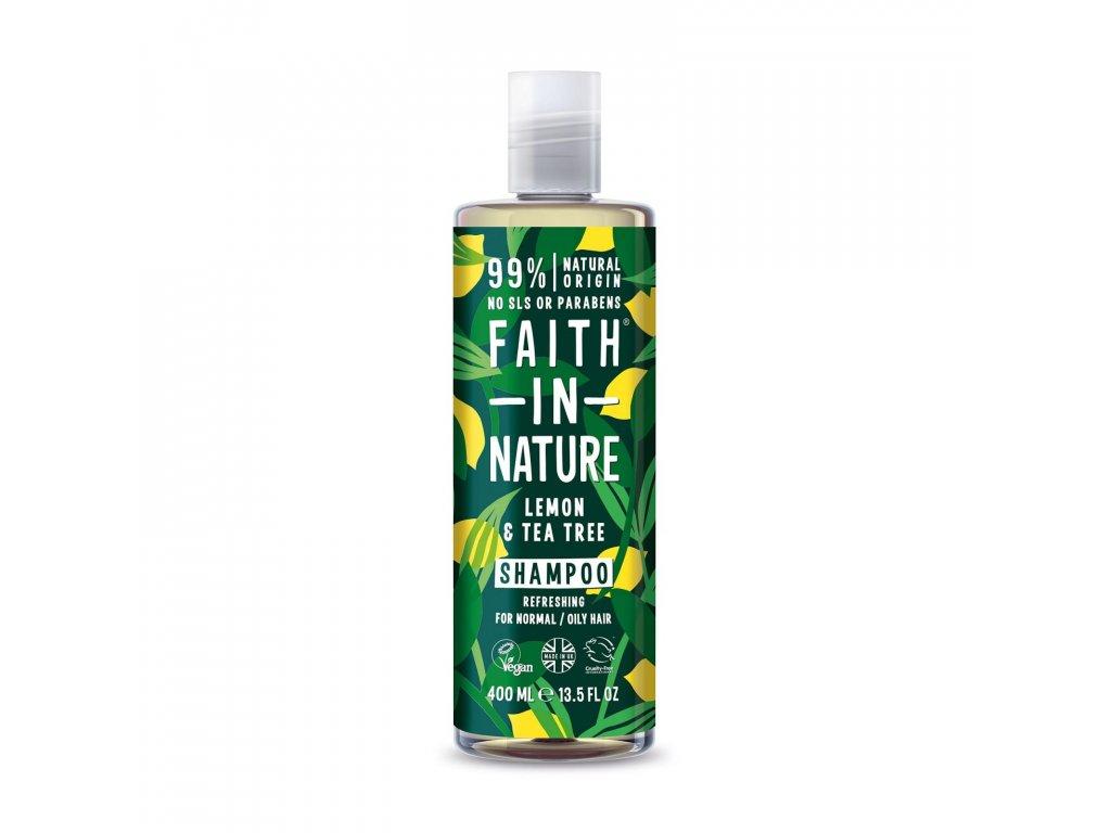 Faith In Nature - Šampon s citrónem a tea tree 400 ml