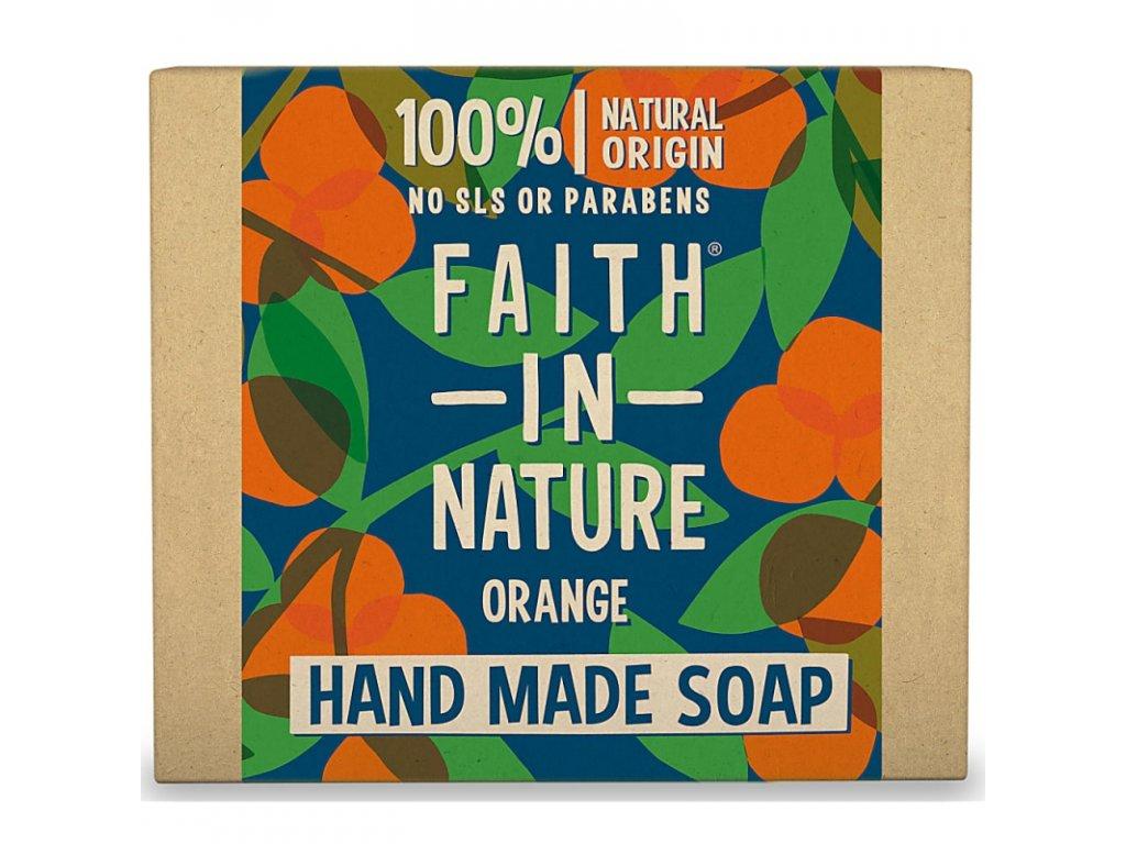 Faith In Nature - Ručně vyráběné přírodní mýdlo s pomerančem 100g