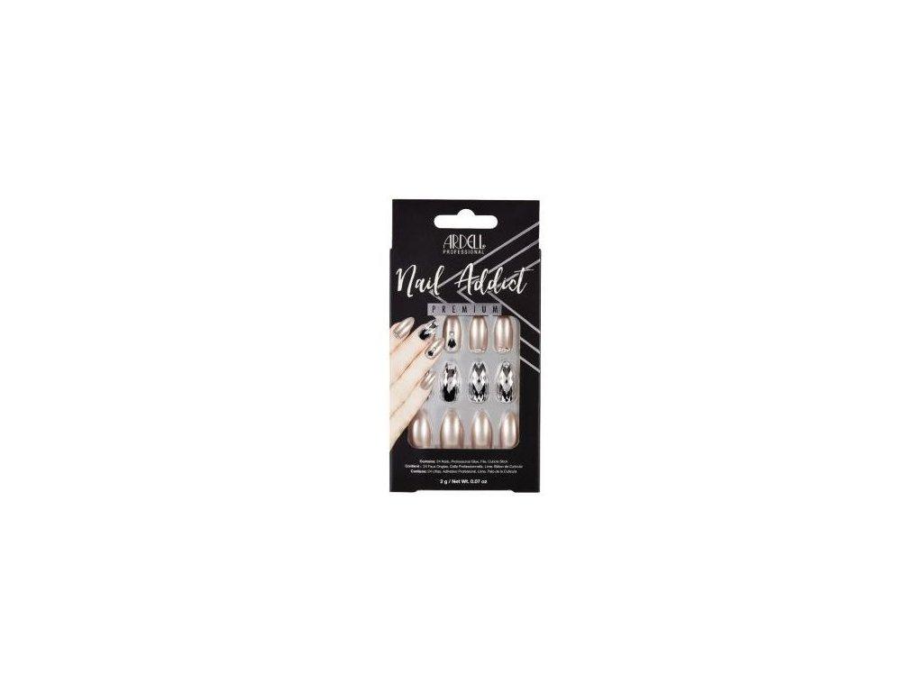 Ardell - Nehty Ardell Nail Addict Premium - Champagne Ice (24 ks)