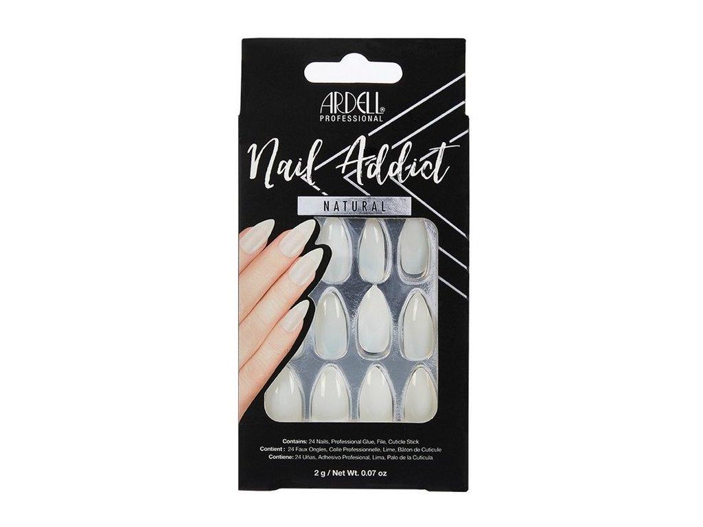 Ardell - Nehty Ardell Nail Addict Natural - Natural Stiletto (24 ks)