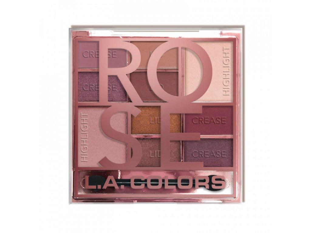 L.A. Colors - Paletka stínů ROSE 20g