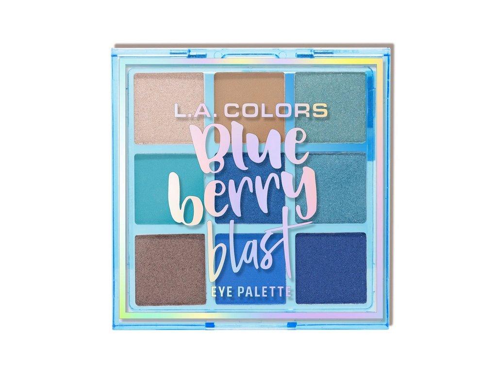 L.A. Colors - Paletka 9 stínů BLUEBERRY BLAST 7,5g