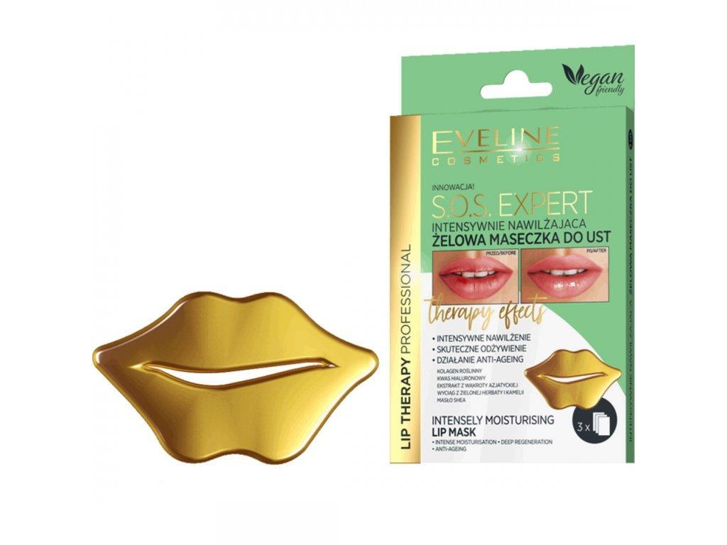 EVELINE - Hydrogelová maska na rty s hydratačním účinkem Lip Therapy