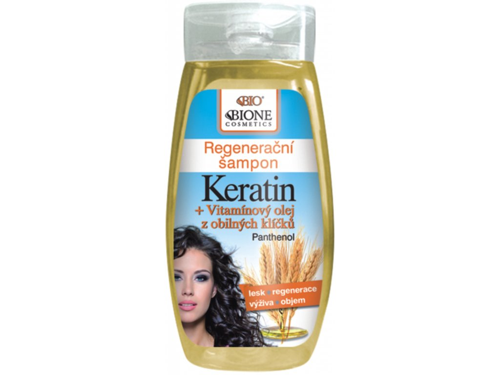 Bione Cosmetics - BIO KERATIN + OBILNÉ KLÍČKY Regenerační šampon 250 ml | Dekorativka.cz