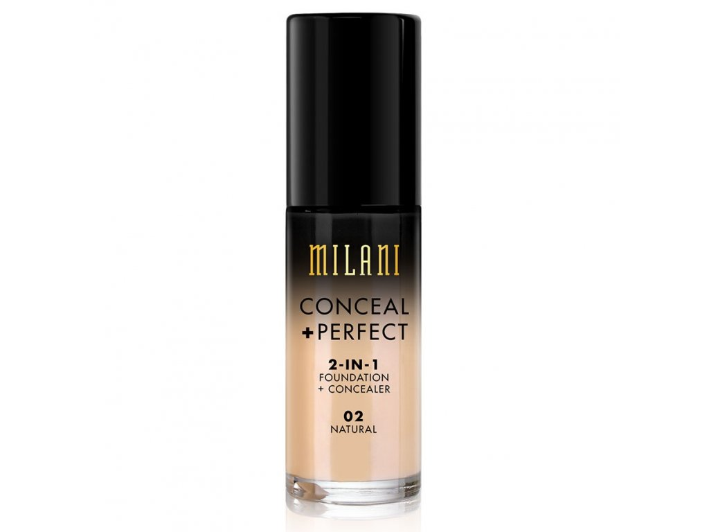 MILANI - 2v1 makeup a korektor 02 NATURAL 30 ml