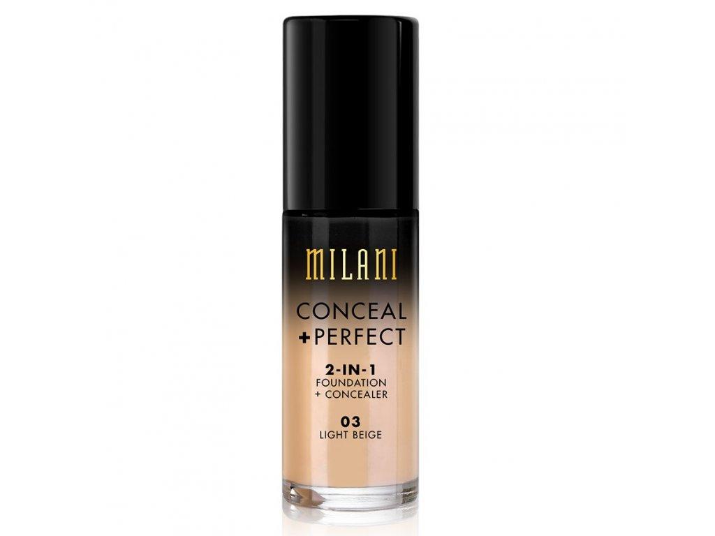 MILANI - 2v1 makeup a korektor 03 LIGHT BEIGE 30 ml