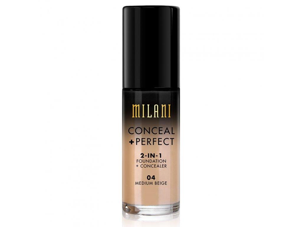 MILANI - 2v1 makeup a korektor 04 MEDIUM BEIGE 30 ml