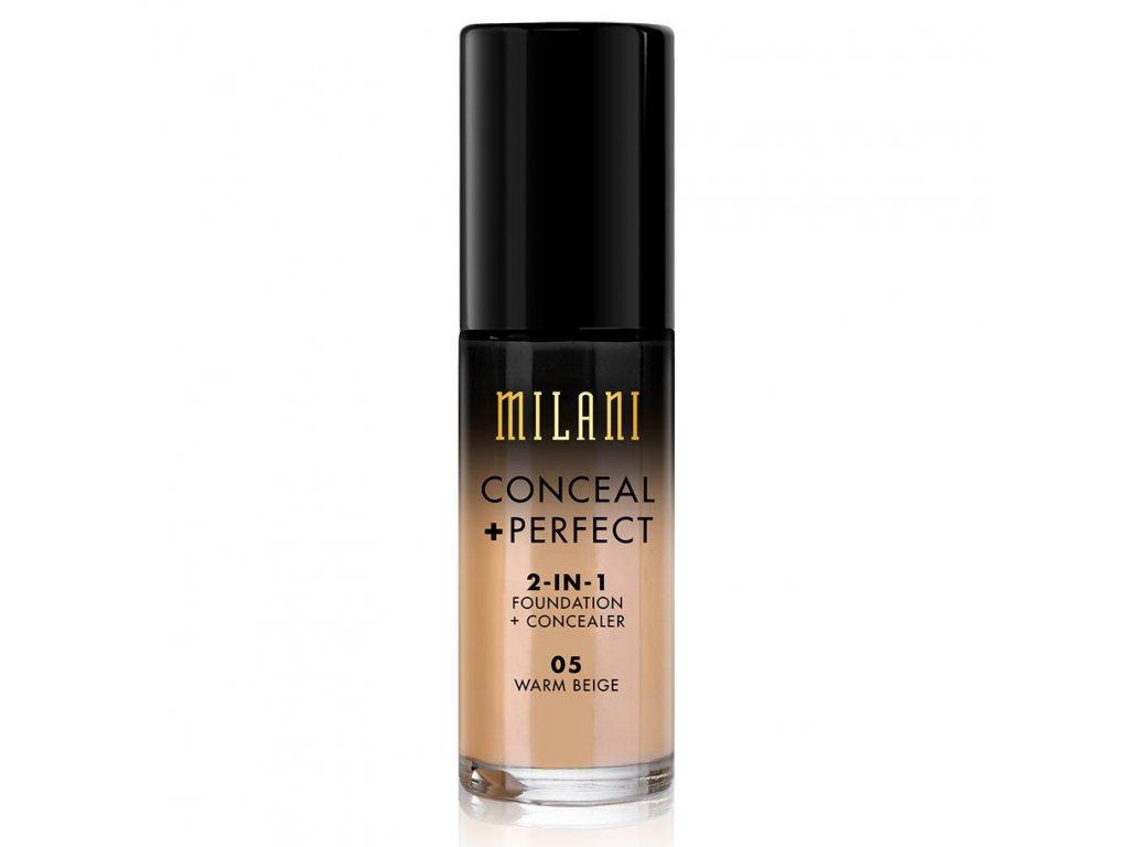 MILANI - 2v1 makeup a korektor 05  WARM BEIGE 30 ml