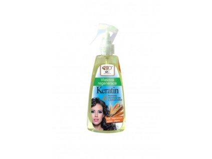 Bione Cosmetics - BIO KERATIN + OBILNÉ KLÍČKY Vlasová regenerace ve spreji 260 ml