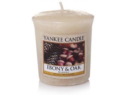 Yankee candle - Vonná svíčka votivní EBONY & OAK VOTIVNÍ