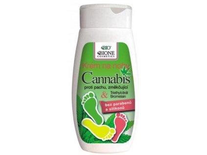 BIONE COSMETICS - CANNABIS krém na nohy s chlorhexidinem a bromelainem