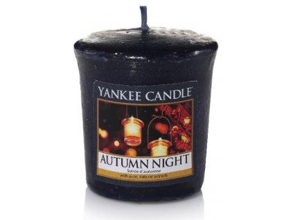 Yankee candle - Vonná svíčka votivní AUTUMN NIGHT