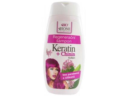 BIONE COSMETICS - BIO KERATIN + CHININ Regenerační šampon