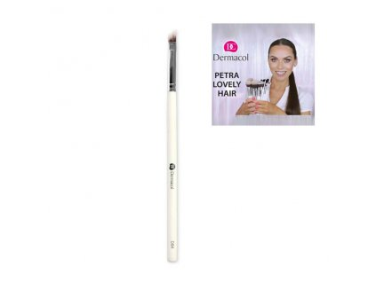 Dermacol - Štětec na oči D84 eyebrow and eyeliner brush By Petra