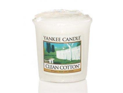 Yankee candle - Vonná svíčka votivní CLEAN COTTON