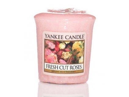 Yankee candle - Vonná svíčka votivní FRESH CUT ROSES