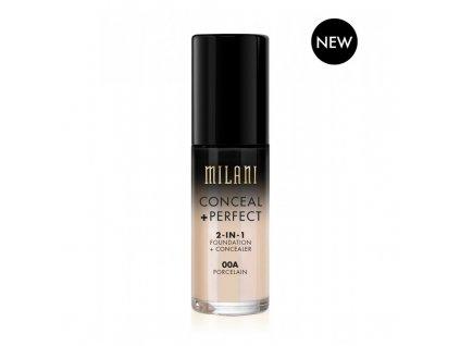 MILANI - 2v1 makeup a korektor 00A Porcelain