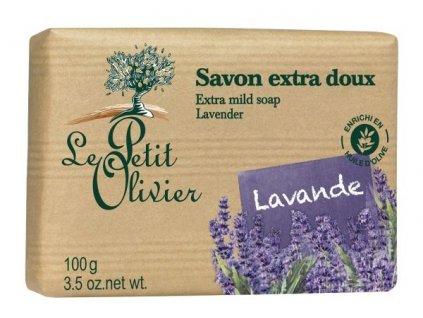 Le Petit Olivier - Extra jemné mýdlo Levandule 100g