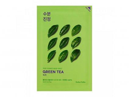 Holika holika - Plátýnková maska Pure Essence, zelený čaj