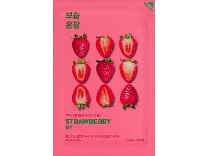 holika holika pure essence mask sheet strawberry