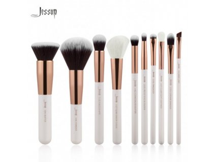 Jessup - Sada 10 štětců White & Rose Gold kit T216