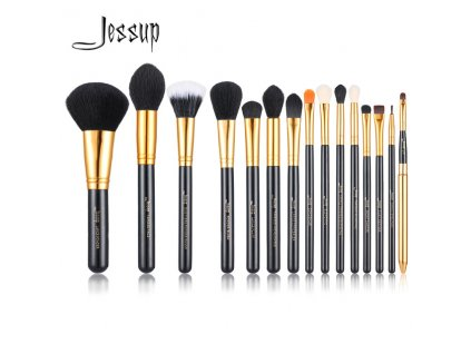Jessup - Sada 15 štětců Black & Gold kit T093