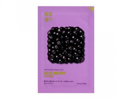 Holika holika - Plátýnková maska Pure Essence, Acai berry