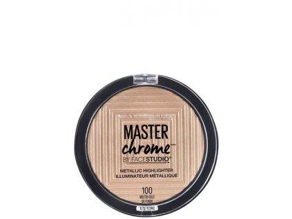 MAYBELLINE - Rozjasňovač Master chrome 100 Molten gold