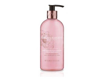 Baylis & Harding - Antibakteriální Tekuté mýdlo na ruce Růžová magnólie a Hruškový květ, 300ml