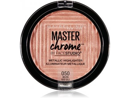 MAYBELLINE - Rozjasňovač Master chrome 50 MOLTEN ROSE GOLD