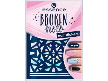 ESSENCE - Nálepky na nehty nail art BROKEN HOLO