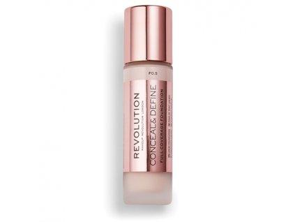 Makeup Revolution - Conceal & Define makeup, odstín F0.5 23ml