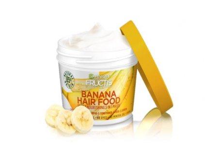 Garnier - Fructis Banana Hair Food vyživující maska pro suché vlasy 390 ml