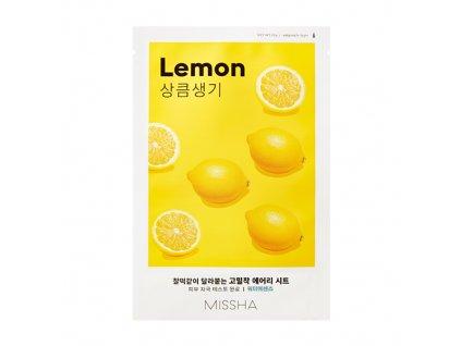 Missha - Airy Fit Plátýnková maska s výtažkem z citronu