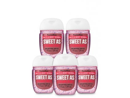 Bath & Body Works - Antibakteriální gel na ruce SWEET AS STRAWBERRIES 29 mll