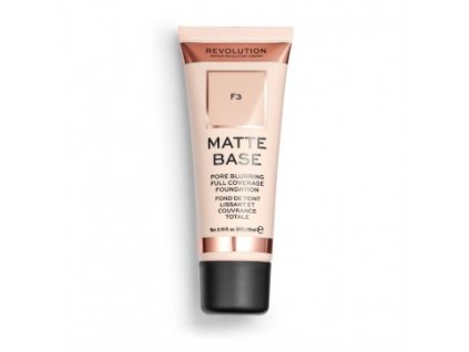Makeup Revolution - Matte Base Foundation odstín F3