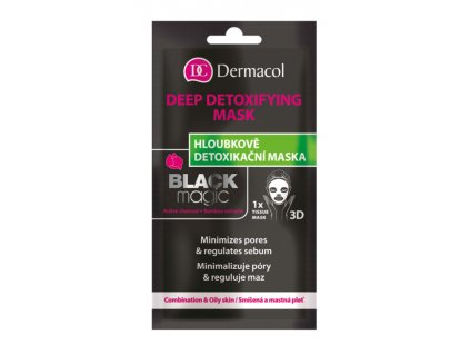 Dermacol -  Textilní detoxikační maska black magic