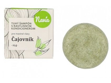 Navia - Tuhý šampon s kondicionérem pro mastné vlasy Čajovník 25g