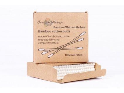 Curanatura - Bambusové vatové tyčinky do uší (100 ks)IMG 4432 upr