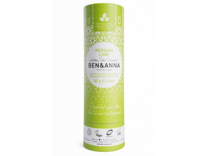 Ben & Anna - Tuhý deodorant BIO (60 g) - Perská limetka