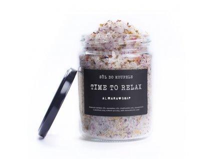 Almara Soap - Sůl do koupele TIME TO RELAX 450g