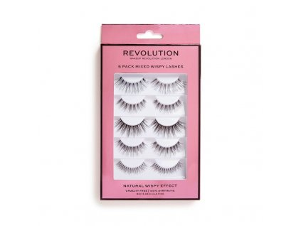 Makeup Revolution - Umělé řasy 5 Pack Mixed Wispy