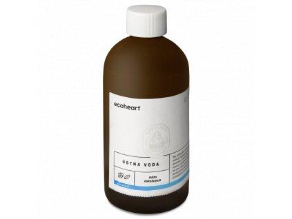 Ecoheart - Ústní voda ve skleněné láhvi Máta a eukalyptus (300 ml)