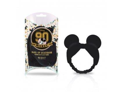 MAD Beauty - Kosmetická čelenka Mickey 90th Gold