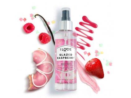 I LOVE - tělový sprej Glazed Raspberry (sladká malina) 150ml